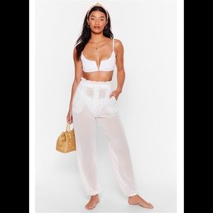 Chiffon Paperbag Cover-Up Pants